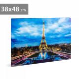 Tablou cu Iluminare LED, Turnul Eiffel, Baterii 2xAA, 38x48cm