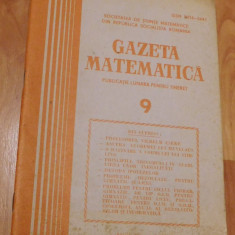 Gazeta matematica - Nr. 9 din 1985