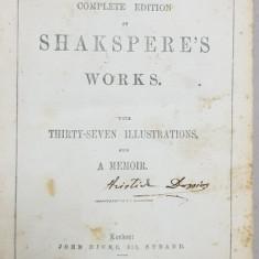 OPERE COMPLETE WILLIAM SHAKESPEARE de JOHN DICKS - LONDRA, 1864