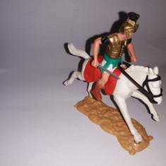 bnk jc Figurina de plastic - Timpo - cavalerist roman