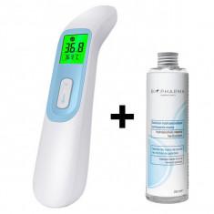 Cumpara ieftin Termometru digital non contact cu infrarosu iUni T8 + Solutie igienizanta pentru maini 250ml