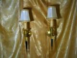 Set aplice Empire bronz dore, vintage