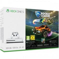 Consola MICROSOFT Xbox One S 500 GB, alb + Joc Rocket League