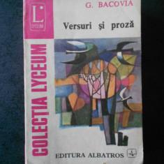 G. BACOVIA - VERSURI SI PROZA