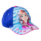 Sapca fete Frozen Anna albastra cu bleu