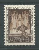 AUSTRIA 1954 - EVENIMENTE , CONGRES MUZICA RELIGIOASA TIMBRU NESTAMPILAT