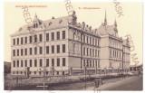 4518 - BISTRITA, High School, Romania - old postcard - unused