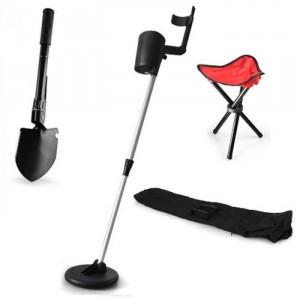"""DURAMAXX """"Basic Red"""" Detector de metale,Geantă de transport,Scaun portabil"""