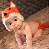 Costum crosetat bebelusi vulpe/ raton  sedinte foto botez