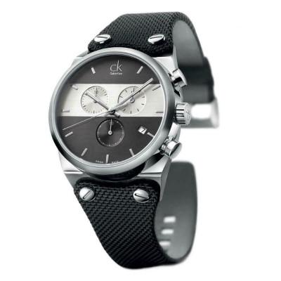 Calvin Klein Eager Black Dial Men's Chronograph Watch K4B371B3 foto