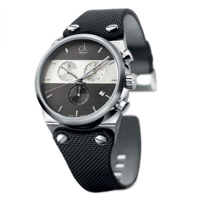 Calvin Klein Eager Black Dial Men's Chronograph Watch K4B371B3