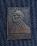 Placheta Pherechyde - Partidul National Liberal - Veteranului fruntas - medalie