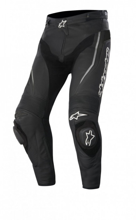 Pantaloni moto piele Alpinestars Track culoare negru marime 46 Cod Produs: MX_NEW 31290151046AU