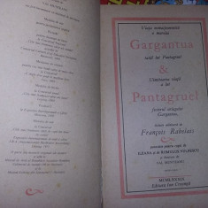 Gargantua & Pantagruel.Edit.Ion Creanga,1989-Francois Rabelais,int.NOUA,T.GRAT