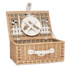 Cos picnic pentru 2 persoane, 21MAR1575, 46x30x20 cm, Everestus, Rachita, Natur, saculet si pastila racire incluse