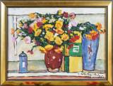 Victor Mihailescu Craiu- Natura statica cu vase si flori