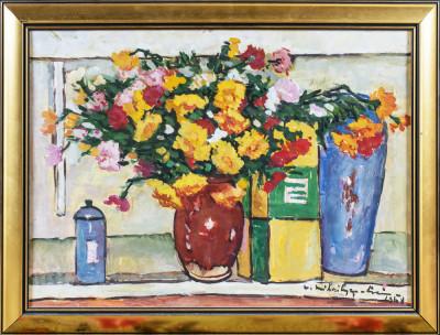 Victor Mihailescu Craiu- Natura statica cu vase si flori foto