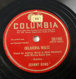 Disc ebonita patefon - gramofon Columbia - John's other Wife - Oklahoma Waltz, VINIL