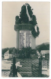 3902 - SIGHISOARA, Mures, Military statue - old postcard, real PHOTO - unused, Necirculata, Fotografie