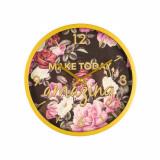 Cumpara ieftin Ceas de perete model Make today amazing, fundal negru cu flori, Pufo