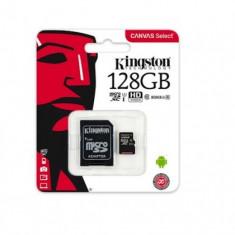 Card memorie Kingston MicroSDXC 128Gb cu Adaptor (Class 10) Blister