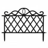 Set 3 buc, gard pentru gradina, lungime 47×36 cm, negru