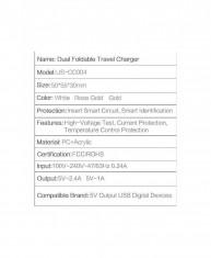 Incarcator Usams U2+ Dual USB Gold foto