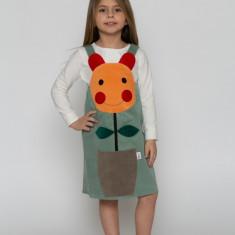 Sarafan rochiță Floare MARGARETĂ costum serbare by KIDissue, 1-2 ani, 2-3 ani, 3-4 ani, 4-5 ani, 5-6 ani, 6-7 ani, 7-8 ani, 8-9 ani, 9-10 ani, Din imagine