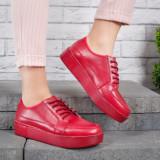 Pantofi dama Piele Eider rosii casual