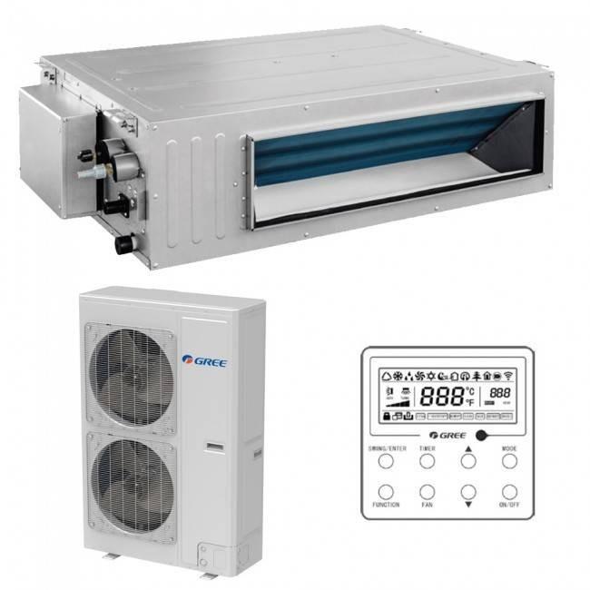 Aparat aer conditionat tip Duct Gree GUD160P/A-T-GUD160W/NhA-X Inverter Trifazat 55000BTU Clasa A++ Alb