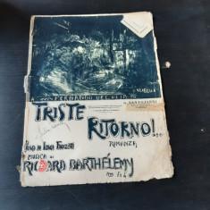 TRISTE RITORNO, ROMANZA, MUZICA DE RICHARD BARTHELEMY