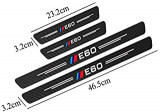Sticker BMW E60 sau E90 ornamente praguri carbon fiber m performance