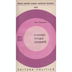 Echitatea sociala socialista