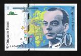 """Franta  50 francs  1999 """" St Exupery"""" - UNC"""