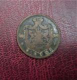 5 bani 1883, România