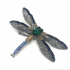 Brosa Libelula Green Antique (Agrafa)