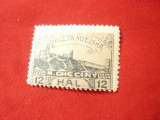 Timbru local Checiny Post Polonia 1919 , 12 halleri, Nestampilat