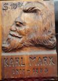 Sculptura in lemn de Ioan H. Sarghie din Bucovina , Karl Marx , 1958