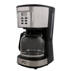 Cafetiera digitala MD MCM-4020, 900 W, 1.5 L, 12 cesti, Functie mentinere la cald, Functie antipicurare, Negru/Argintiu
