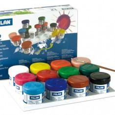 Tempera 12 culori 40 ml/culoare pentru artisti plastici