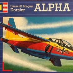 Machetă avion ALPHA JET (1:72) Neasamblat, kit complet!