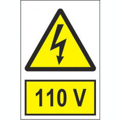 Indicator 110 V - Semn Protectia Muncii