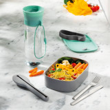 Cutie pentru pranz cu tacamuri si sticla apa Leo Line Verde Mint