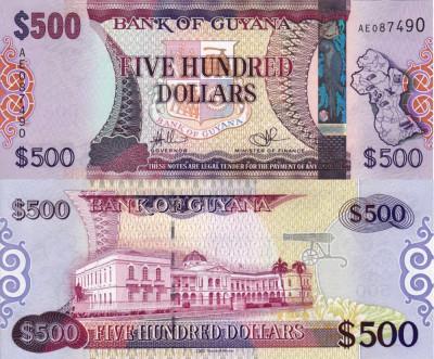 GUYANA 500 dollars ND (2011) UNC!!! foto