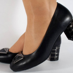 Pantofi negri office (cod 14-4694)