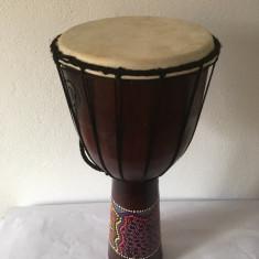 Djembe / toba africana, instrument muzical vintage, 50 cm