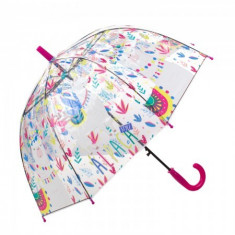 Umbrela pentru fete tip cupola, automata 70 cm Siclam/Transparent