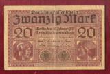 Bancnota Germania  - ZWANZIG  MARK  - 20 MARK  1918