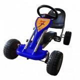 Kart cu pedale Go Kart, albastru, vidaXL