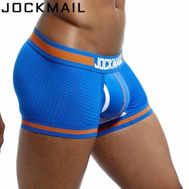 Sexy Chiloti Jockstrap Barbati JockMail Push Up Suspensor Boxeri Mesh